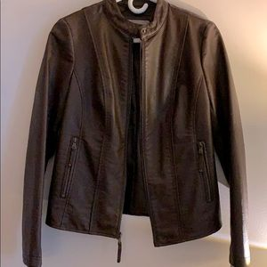 Faux leather jacket, NWT